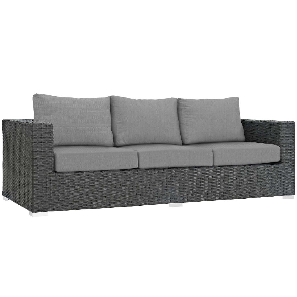 East End Sojourn Outdoor Patio Sunbrella Sofa Chc Gry