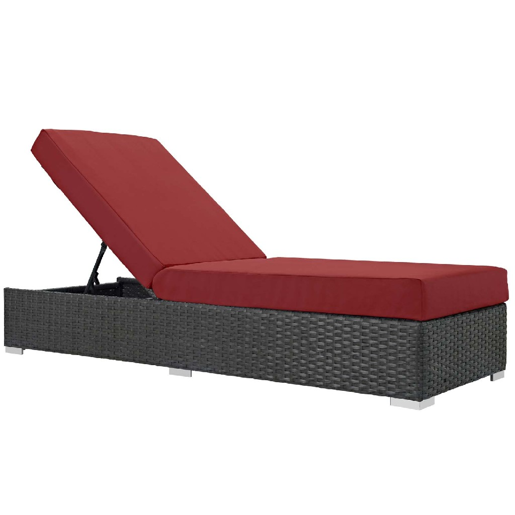 East End Sojourn Outdoor Patio Sunbrella Chaise Lounge Chc Red