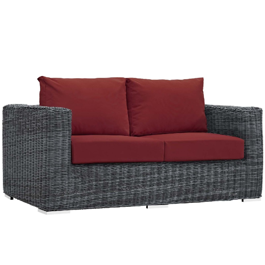East End Imports Patio Loveseat Red