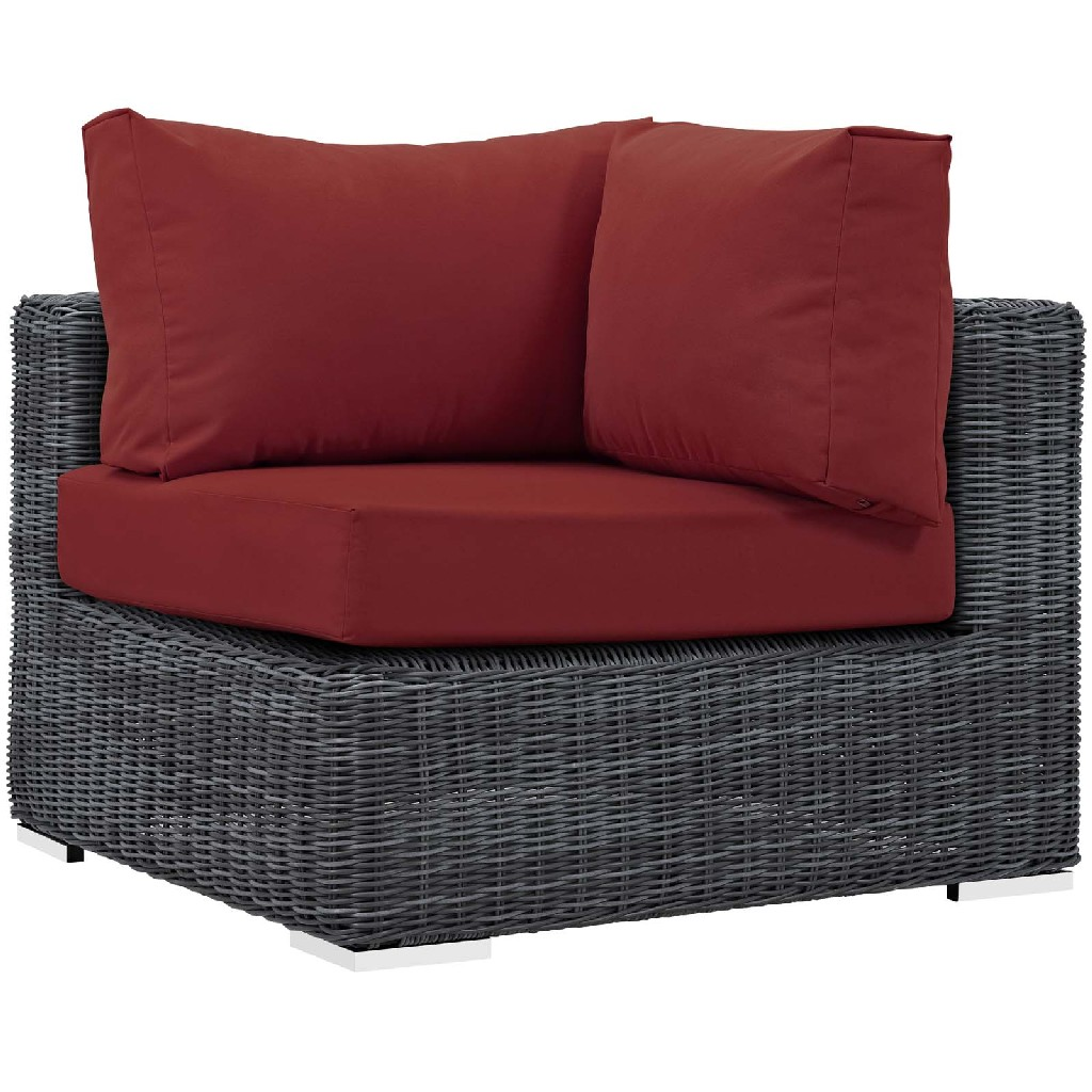 East End Imports Outdoor Patio Sunbrella Corner Red