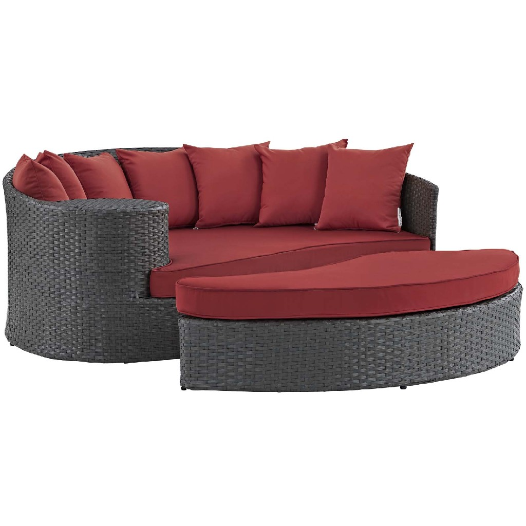 East End Imports Patio Daybed Red