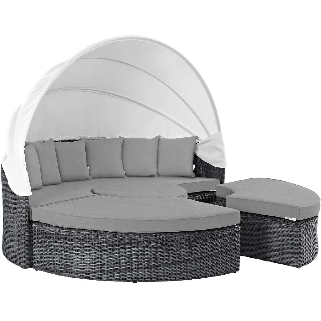 East End Imports Canopy Outdoor Patio Sunbrella Daybed