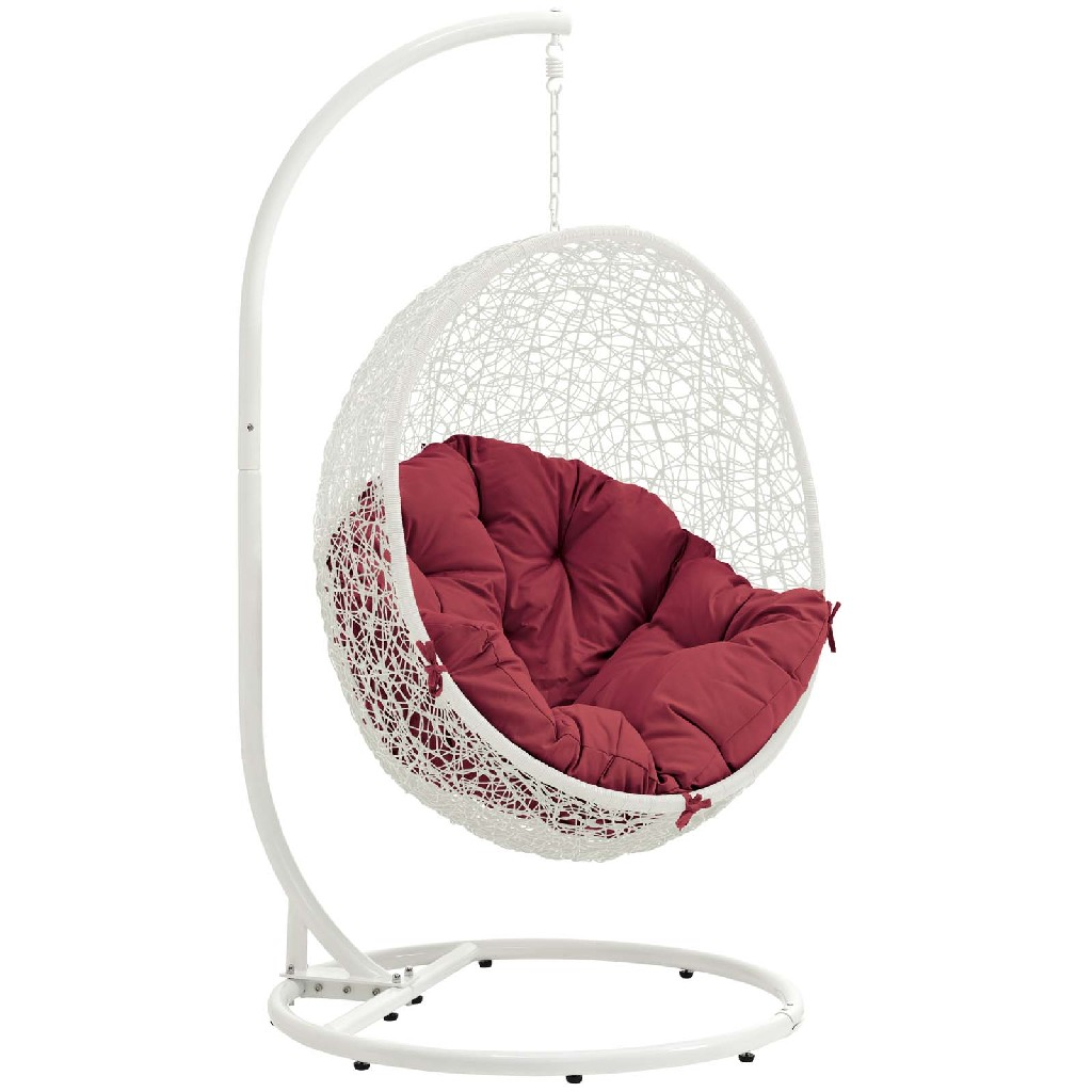 East End Imports Patio Swing Chair Stand Red