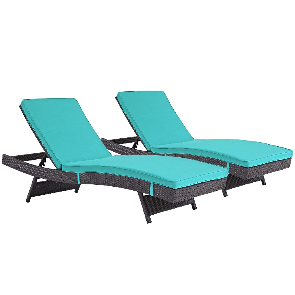 East End Chaise Outdoor Patio Exp Trq Set
