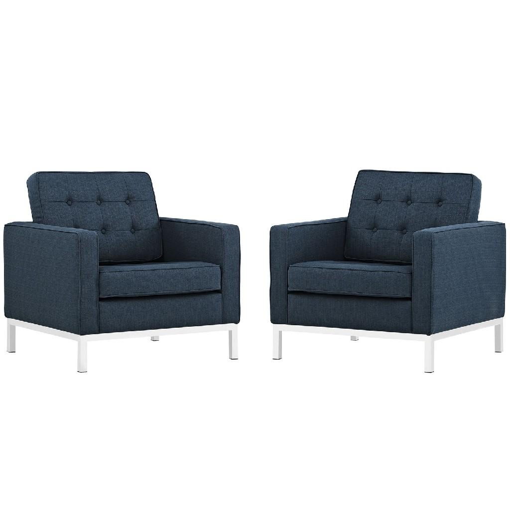 East End Loft Armchairs Upholstered Fabric Azu Set