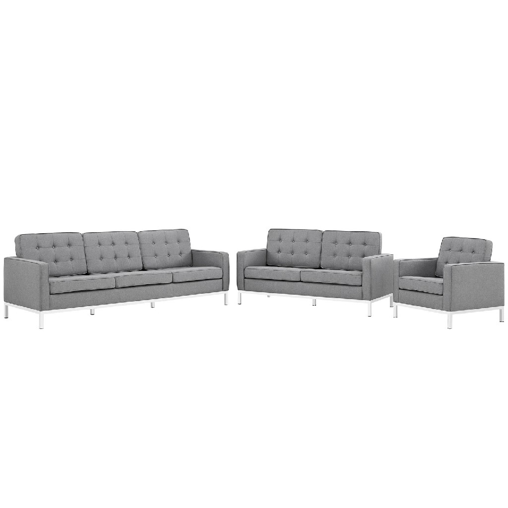 East End Imports Sofa Loveseat Upholstered Armchair Set