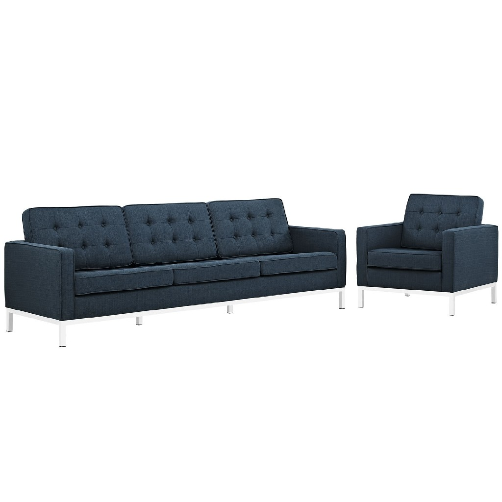 East End Imports Upholstered Fabric Sofa Armchair Set Azu Set