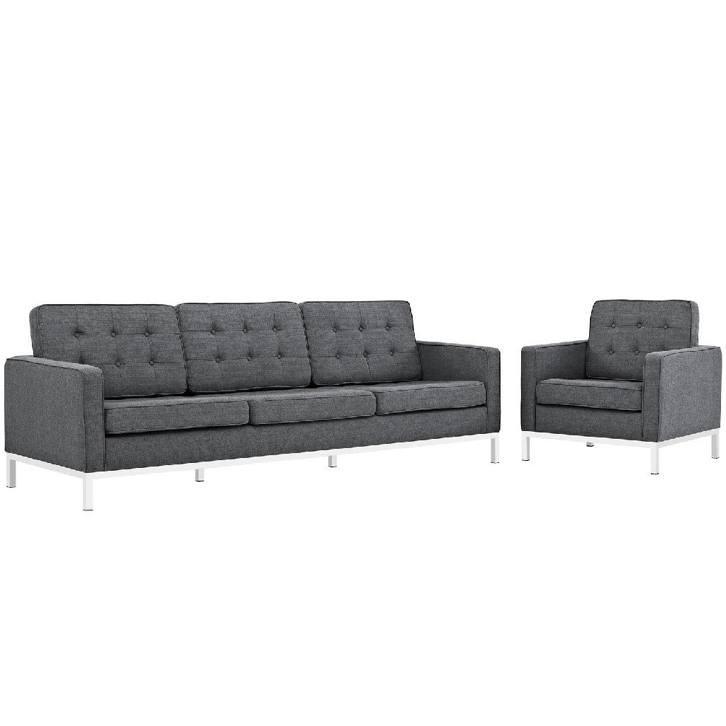 East End Imports Upholstered Fabric Sofa Armchair Set Dor Set