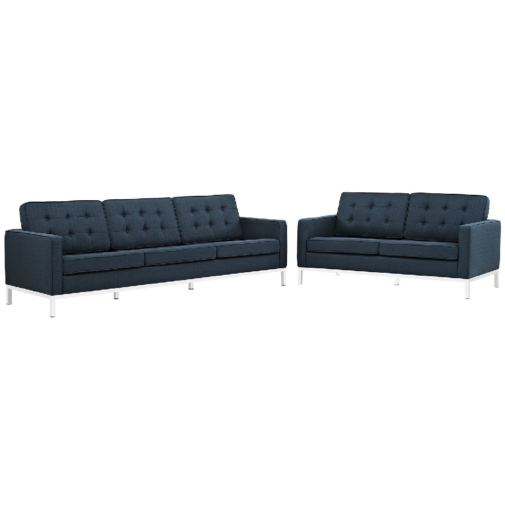 East End Loft Upholstered Fabric Sofa Loveseat Set Azu Set