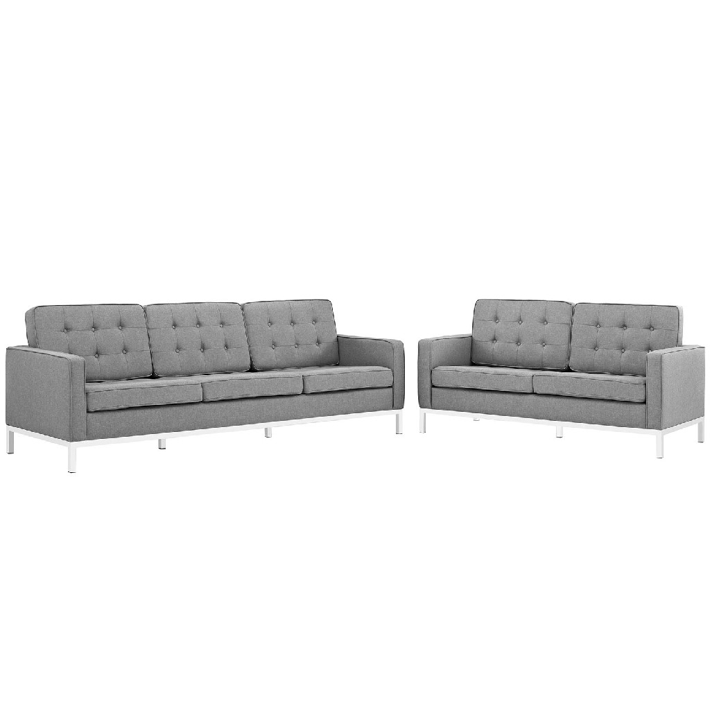 East End Loft Upholstered Fabric Sofa Loveseat Set Lgr Set