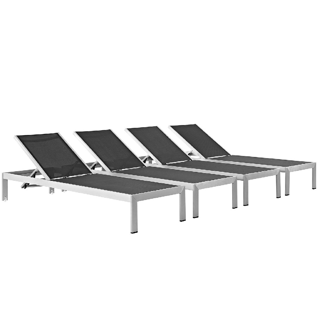 East End Chaise Outdoor Patio Aluminum Slv Set