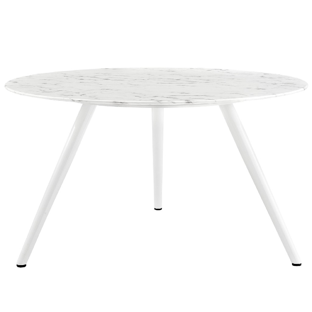 East End Imports Dining Table Round Marble Tripod Base