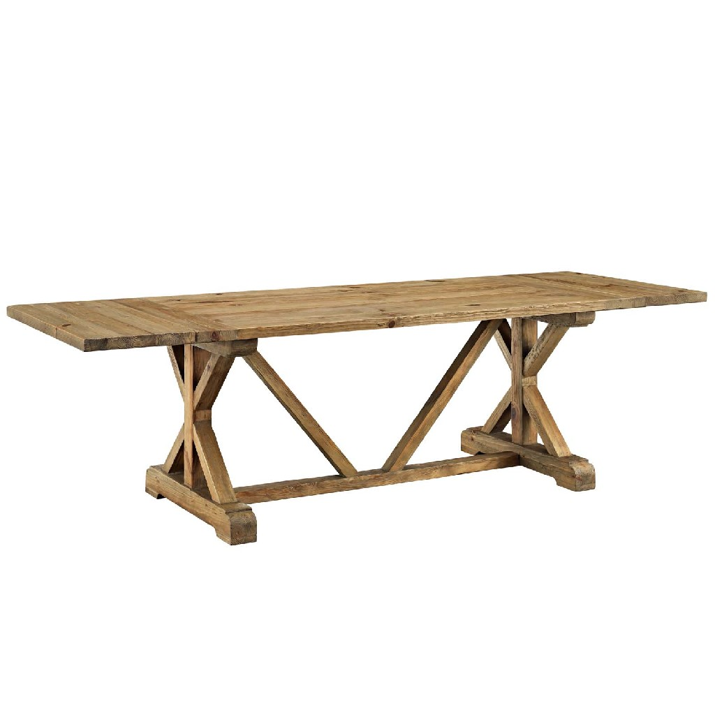 East End Den Extendable Wood Dining Table Brn Set