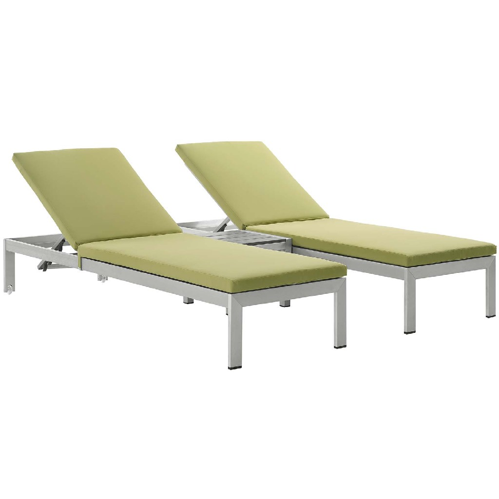 East End Outdoor Patio Aluminum Chaise Cushions Slv Per Set