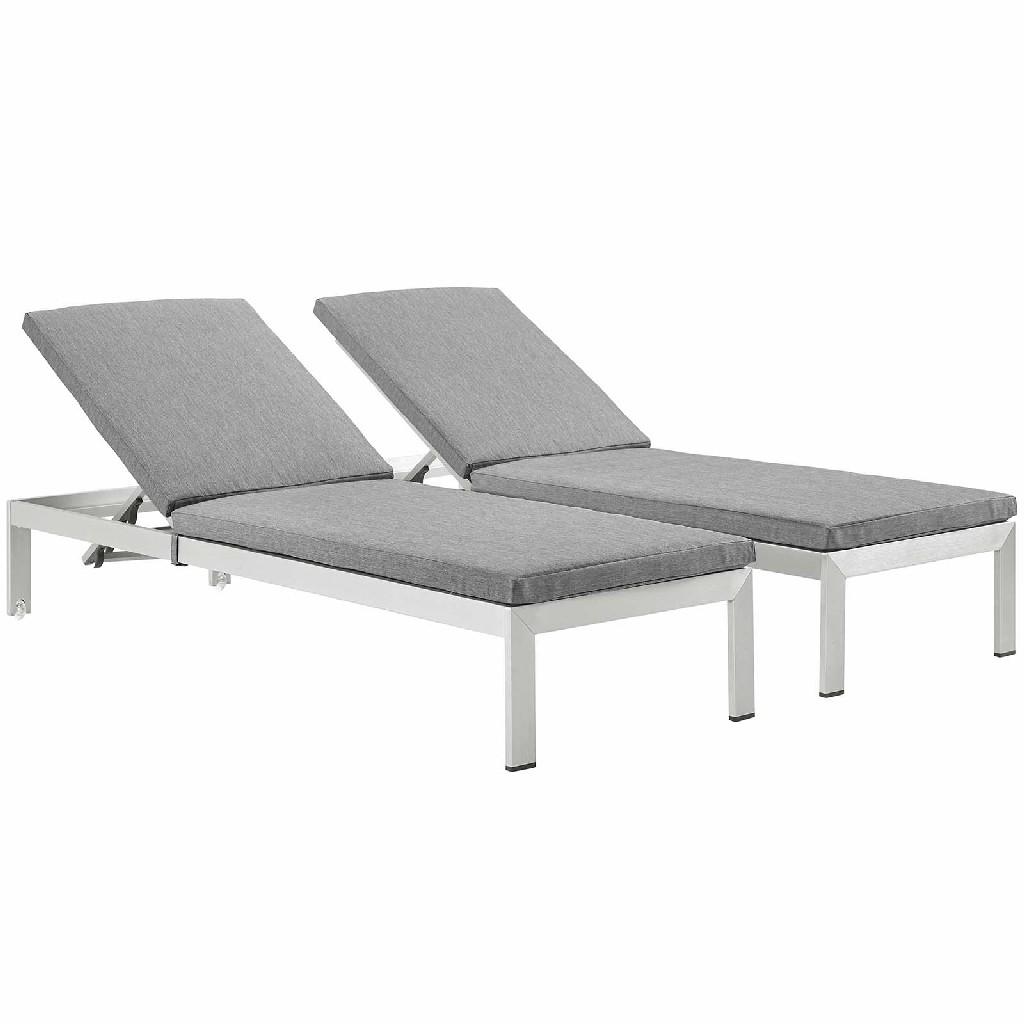 East End Imports Chaise Patio Set Aluminum