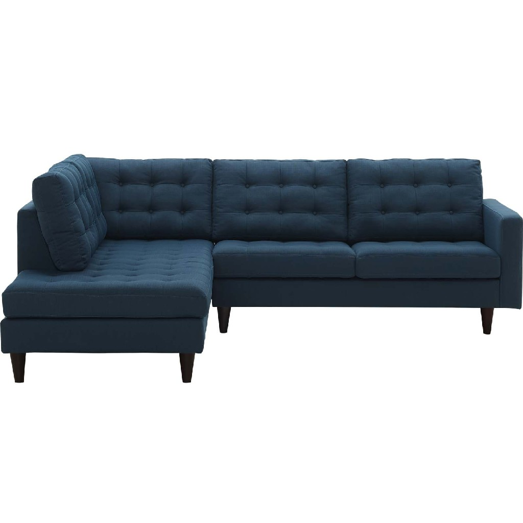 East End Upholstered Fabric Left Facing Bumper Sectional Azu