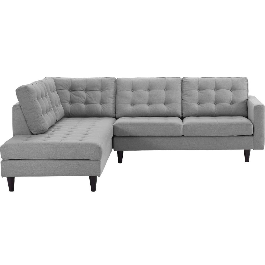 East End Upholstered Fabric Left Facing Bumper Sectional Lgr