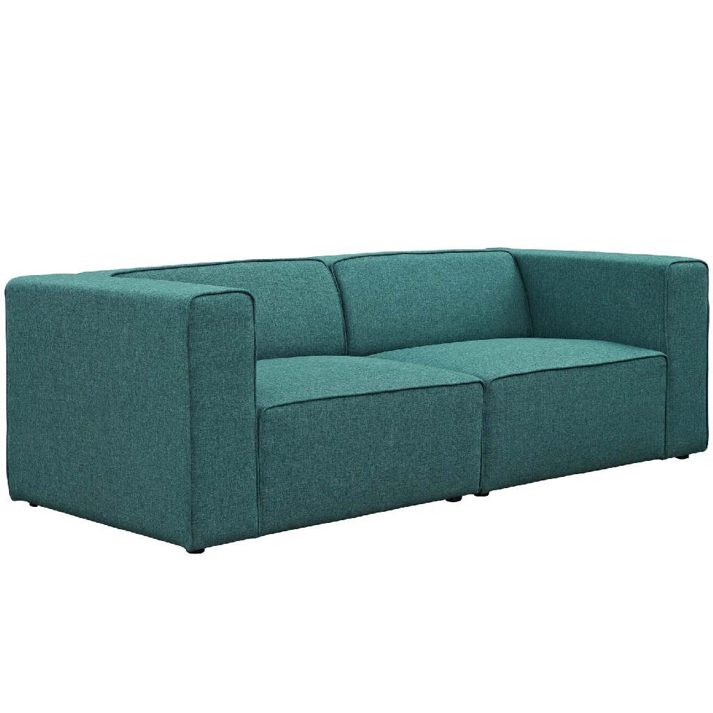 East End Imports Upholstered Fabric Sectional Sofa Set Tea