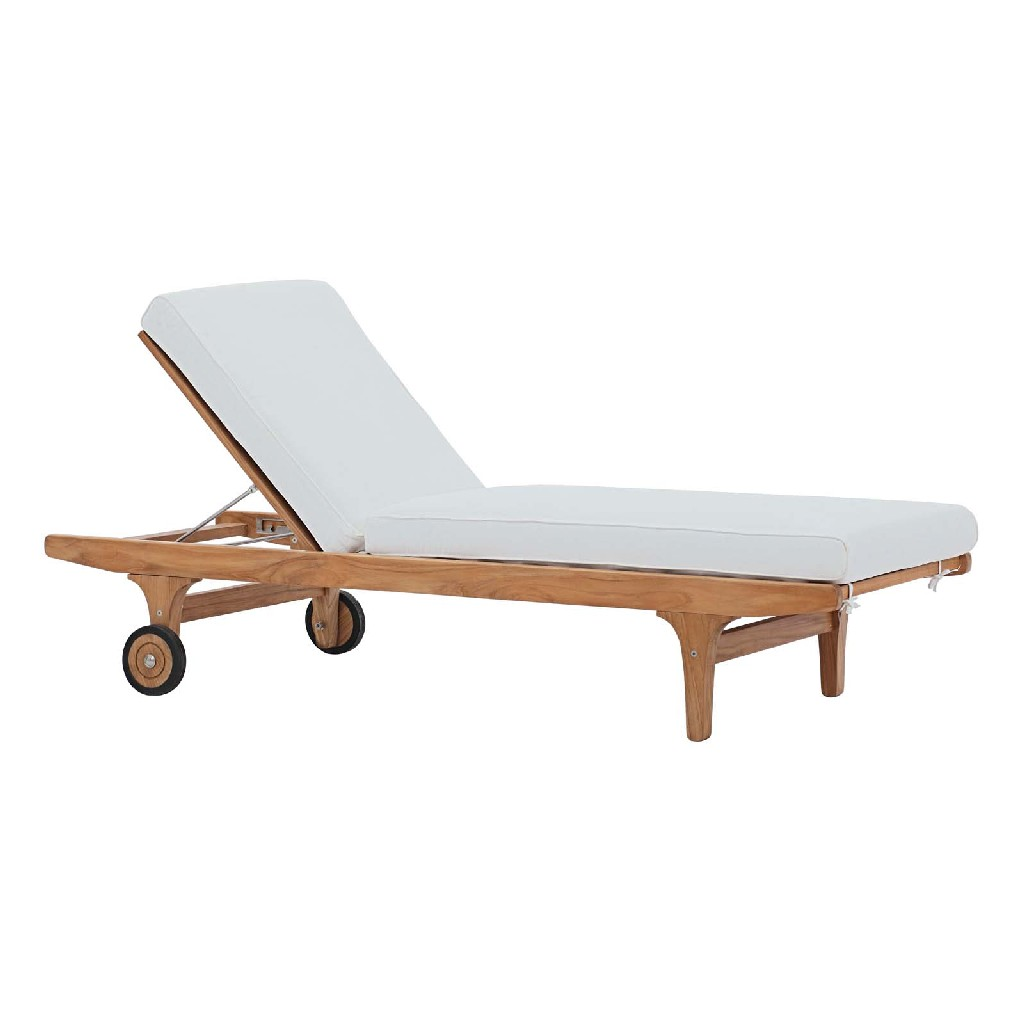 East End Imports Patio Teak Chaise Lounge