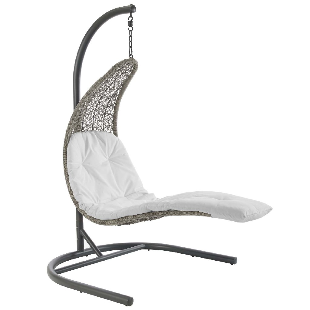East End Imports Hanging Chaise Lounge Patio Swing Chair