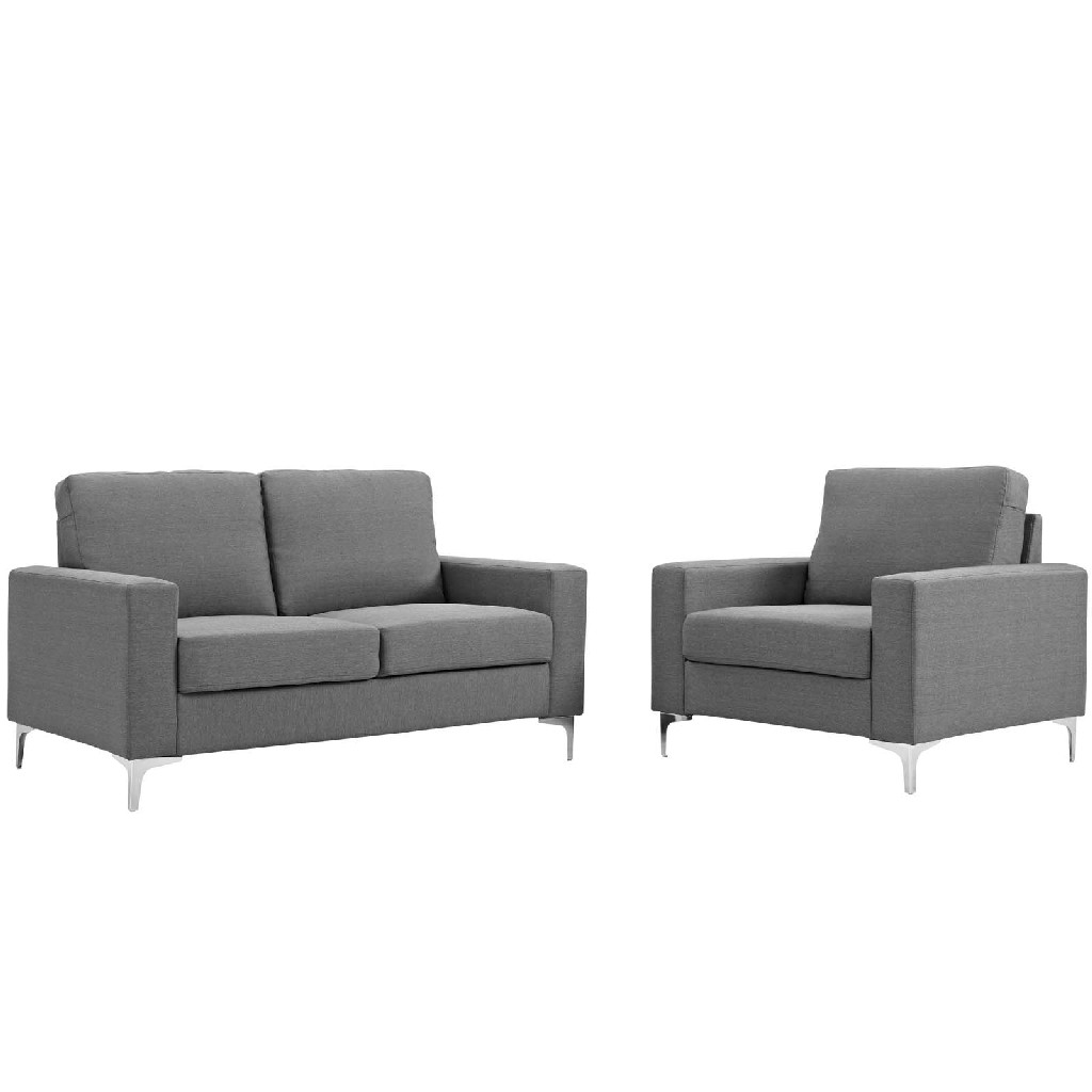 Allure 2 Piece Sofa and Armchair Set EEI-2984-GRY-SET