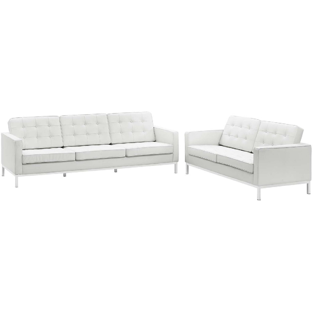 East End Imports Sofa Leather Loveseat Set