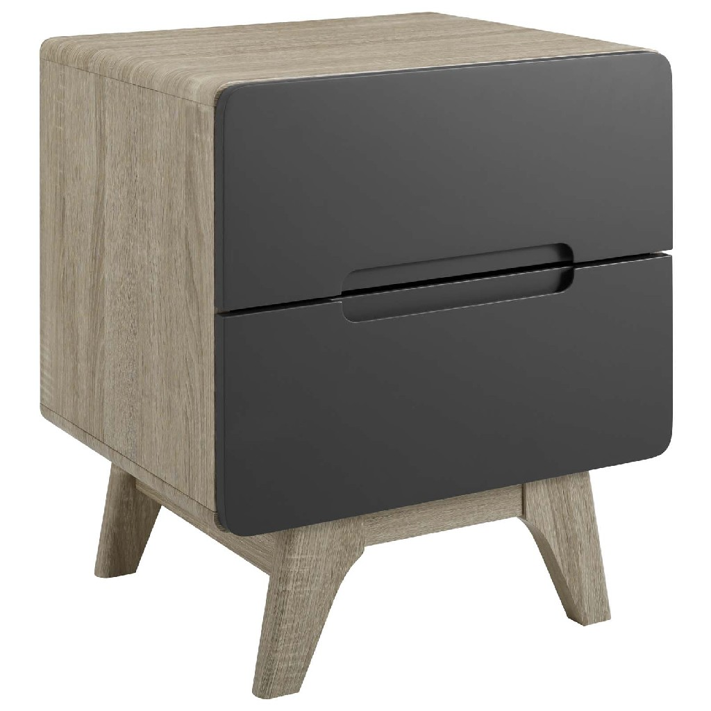 Origin Wood Nightstand Or End Table Mod-6073-nat-gry