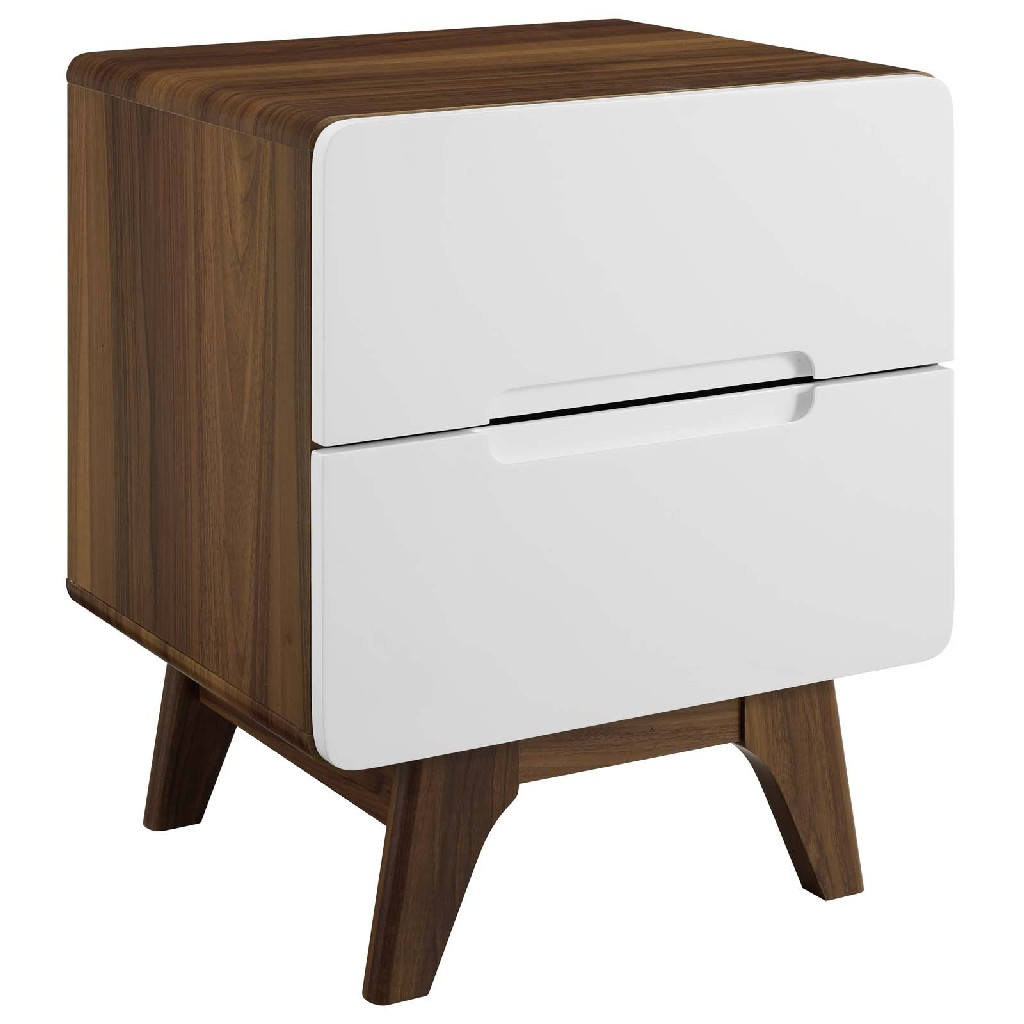 Origin Wood Nightstand Or End Table Mod-6073-wal-whi