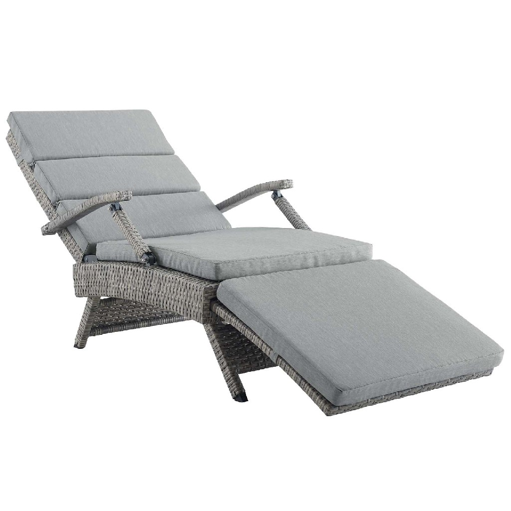 Outdoor | Chaise | Lounge | Patio | Chair | Light | East | Gray