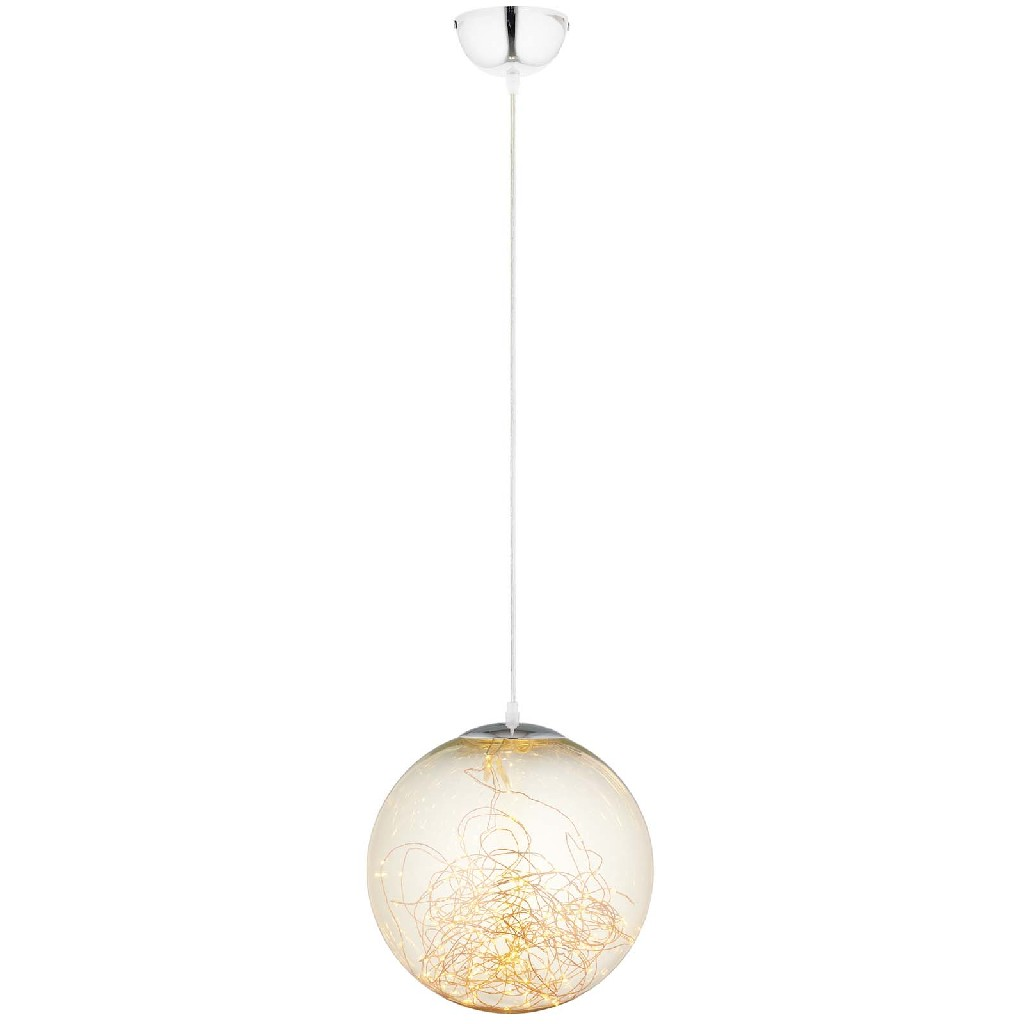 Chandelier | Ceiling | Pendant | Globe | Amber | Glass | Light | East