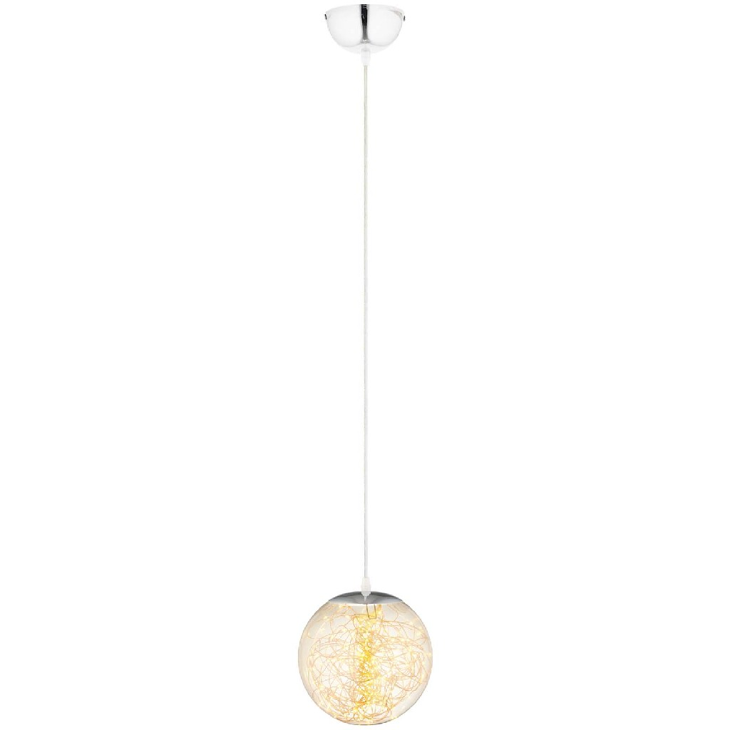 Chandelier | Ceiling | Pendant | Globe | Amber | Glass | Light | East