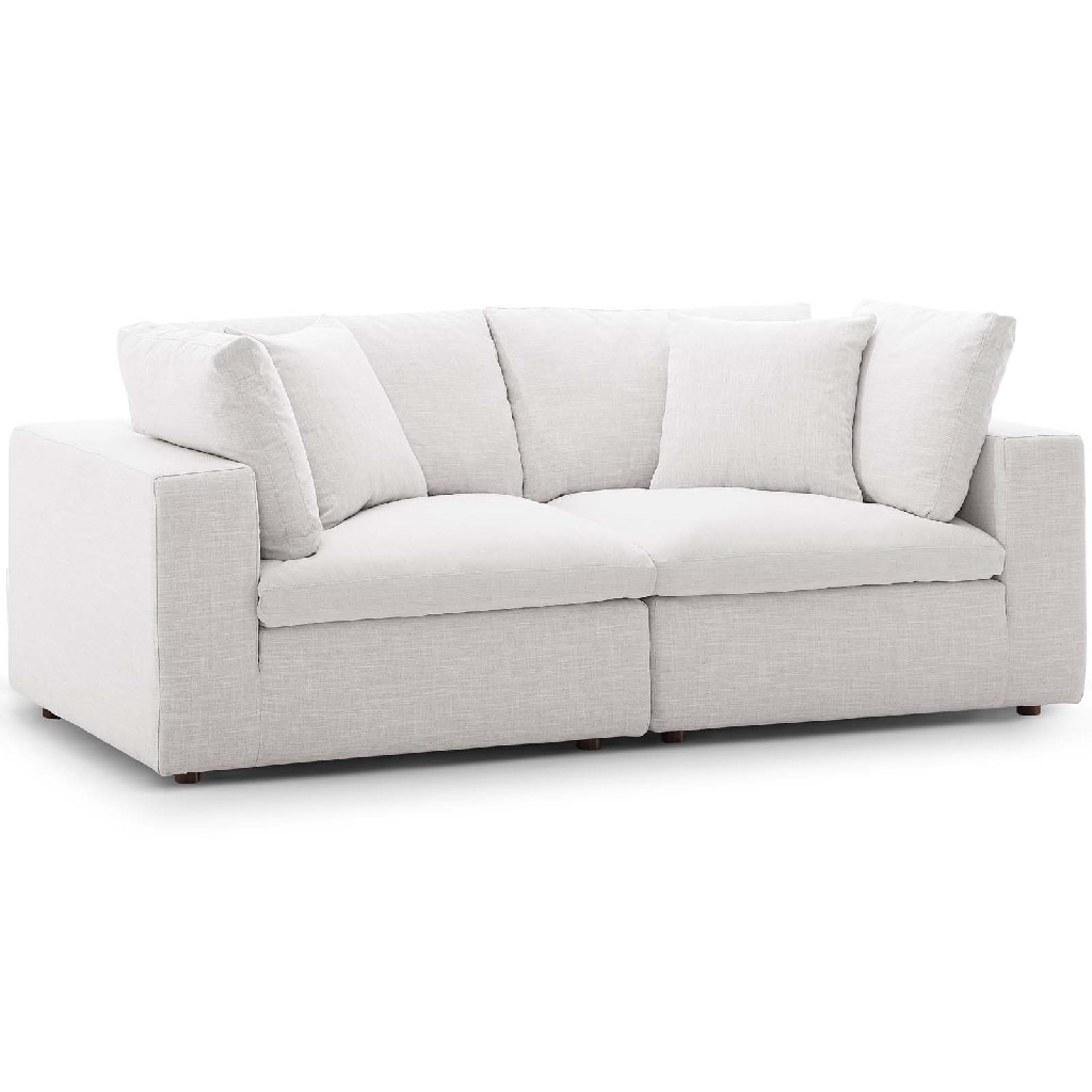 East End Commix Down Filled Overstuffed Sectional Sofa Set Beige