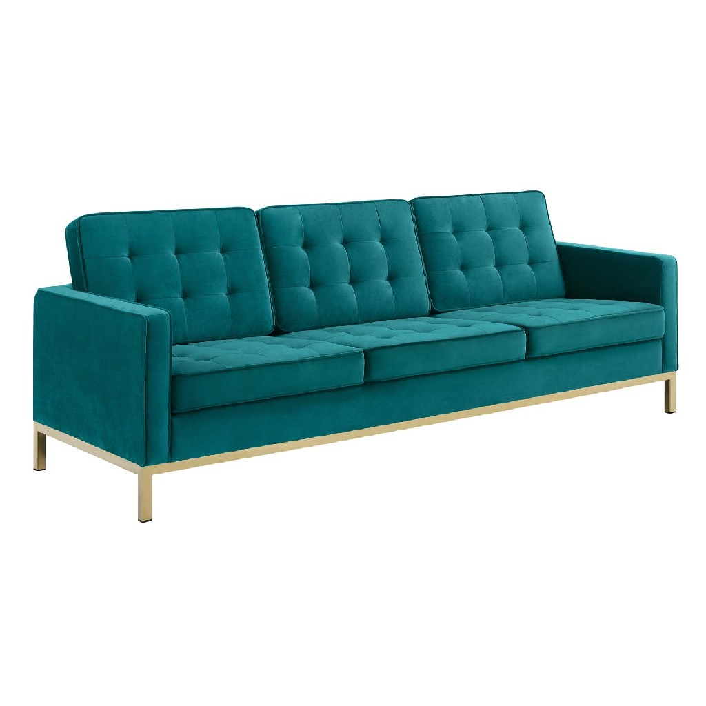 East End Imports Steel Leg Sofa