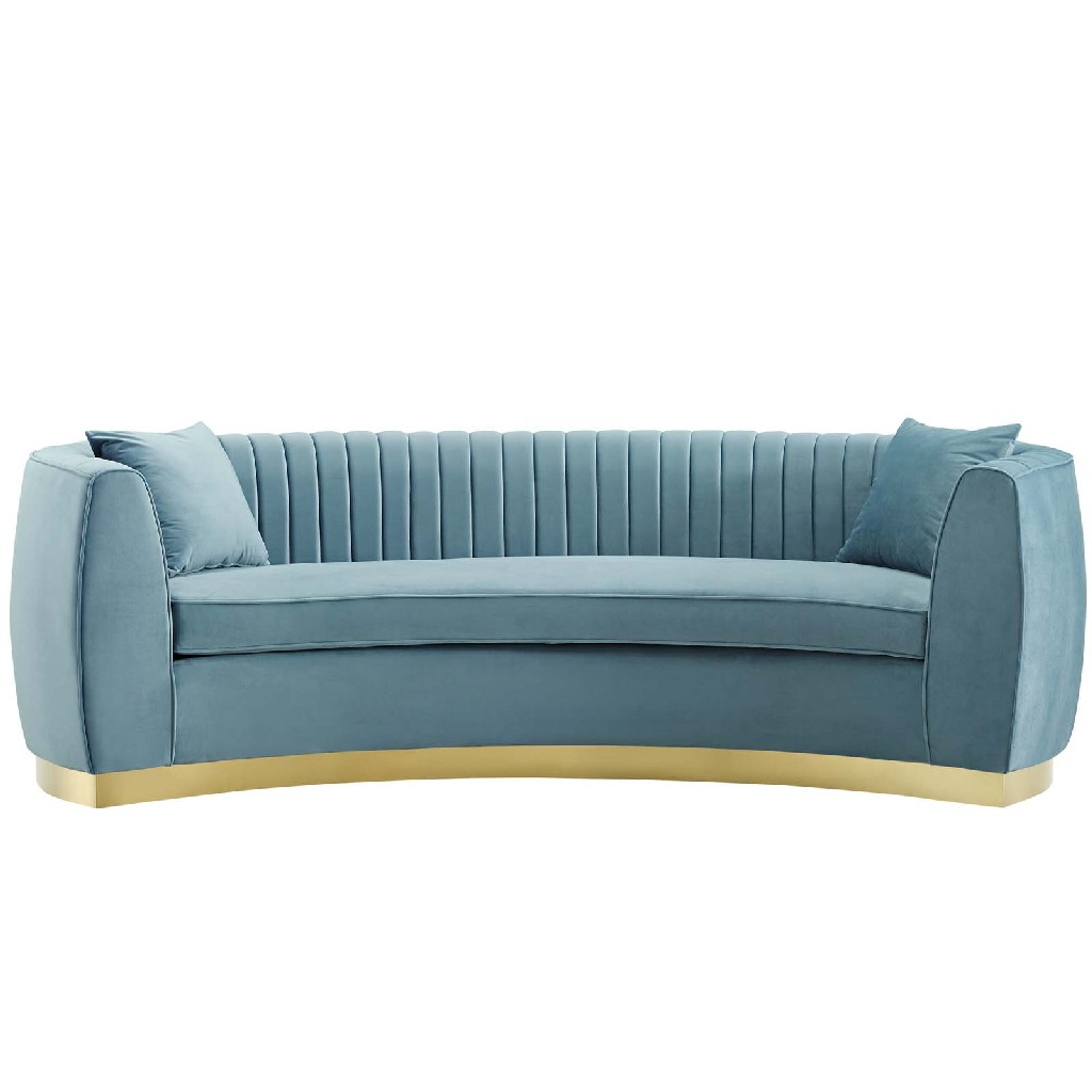 East End Enthusiastic Vertical Channel Tufted Curved Performance