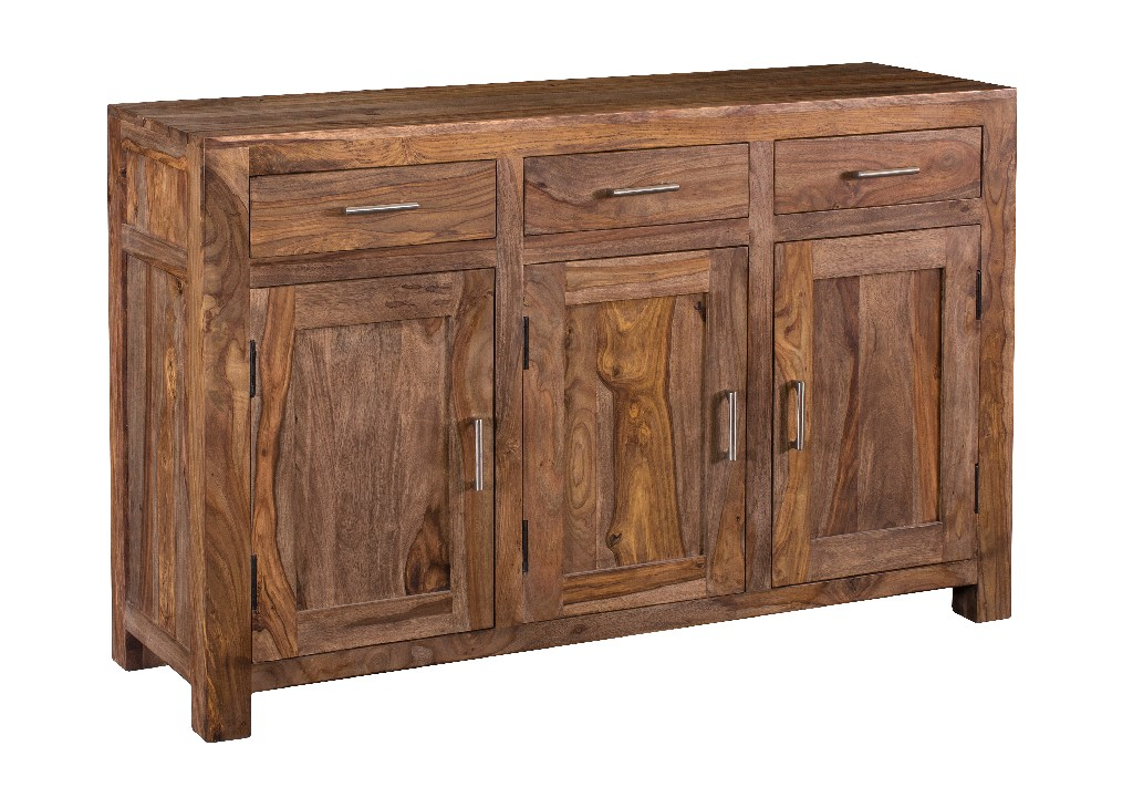 Coast To Coast Three Door Three Drawer Sideboard Brownstone Nut Brown