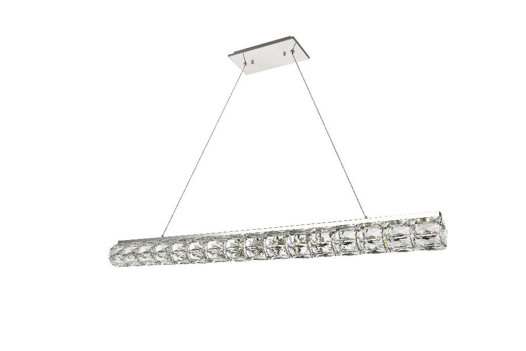 Elegant Lighting Valetta Integrated Led Chip Light Chrome Chandelier