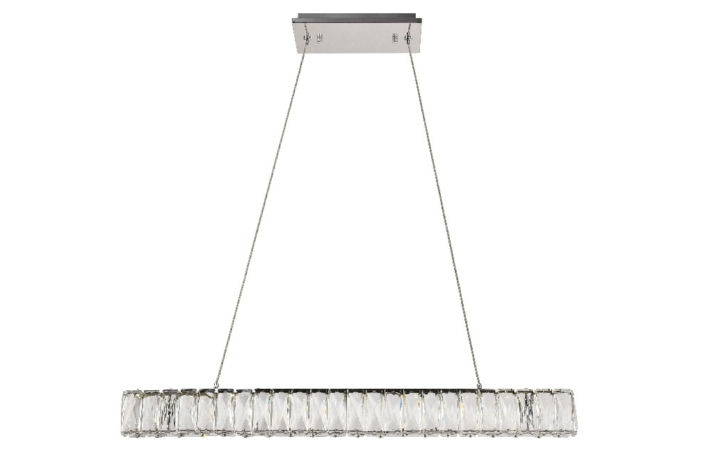 Lighting Led Chrome Chandelier Light Cut