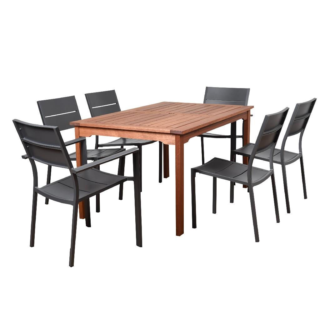International Home Furniture Dining Set Rectangular Patio Photo