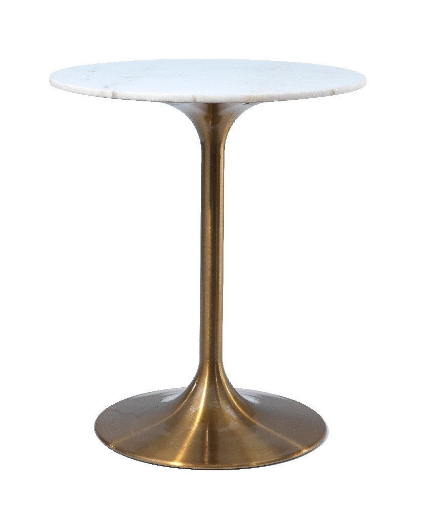 Coast To Coast Counter Height Round Marble Dining Table Gold White Marble