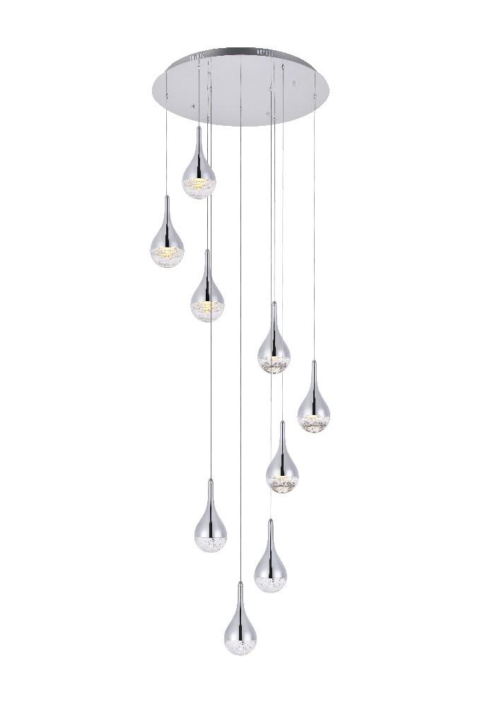 Elegant Lighting Amherst Led Light Chandelier In In Chrome