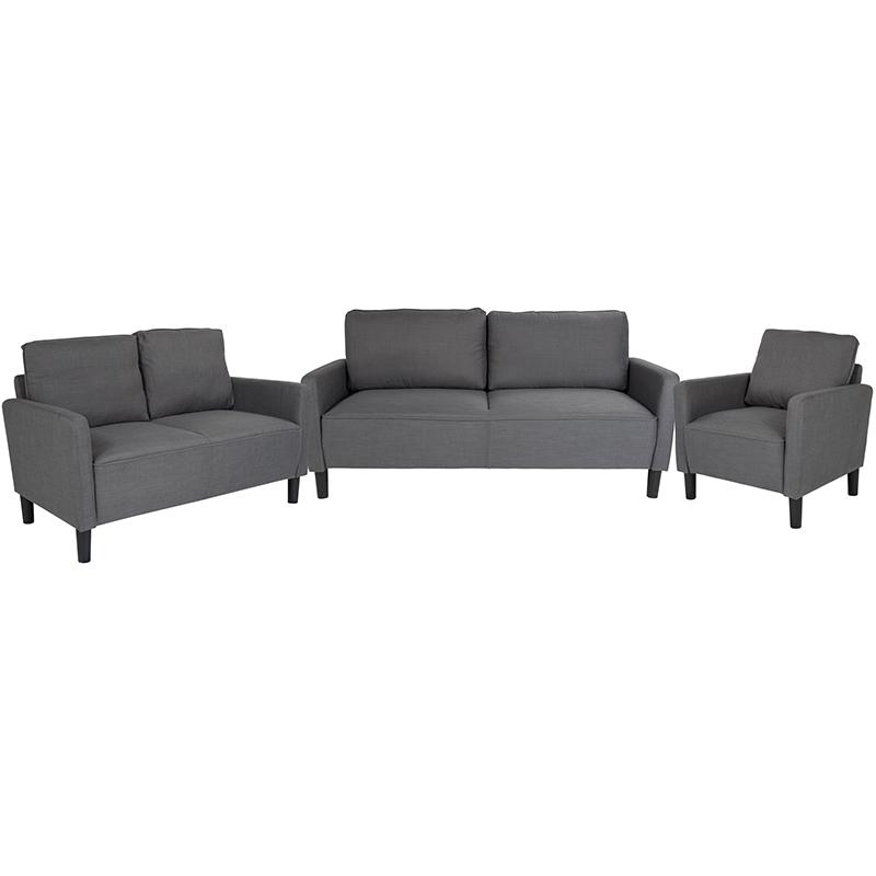 Flash Upholstered Set Dark Gray Fabric Flash Sl Sf Set Dgy Gg
