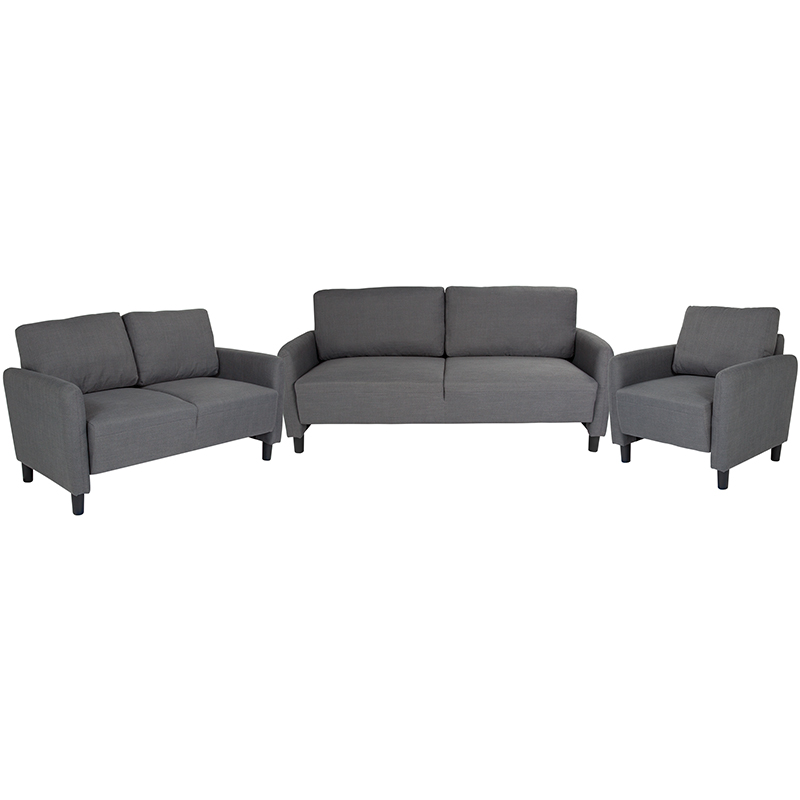 Flash Candler Upholstered Set Dark Gray Fabric Flash Sl Sf Set Dgy Gg