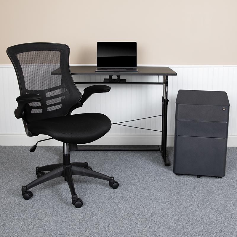 Flash Office Set Adjustable Computer Desk Ergonomic Mesh