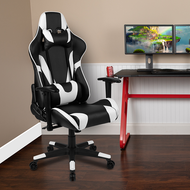 Adjustable | Furniture | Computer | Recline | Office | Swivel | Flash | Chair | Black | Game | Back