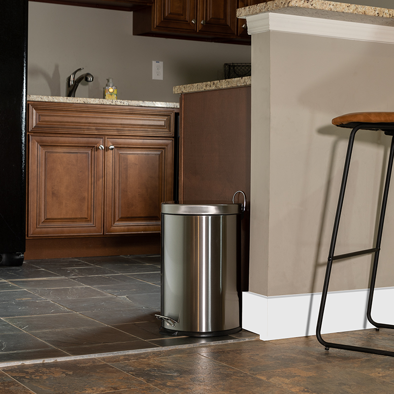 20L Stainless Step Trash Can - Flash Furniture PF-H008A20-M-GG