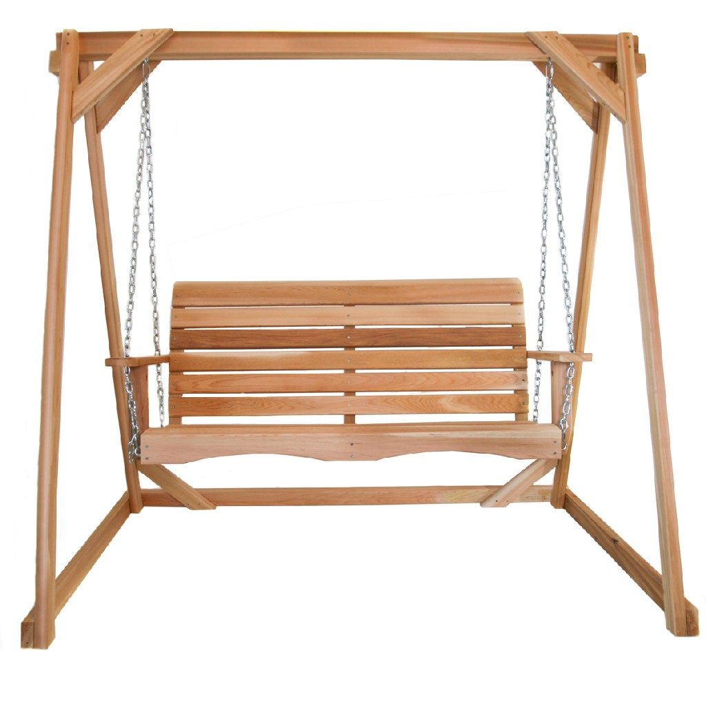 6-ft Swing A-Frame & 4-ft Porch Swing Set - All Things Cedar AF72-S