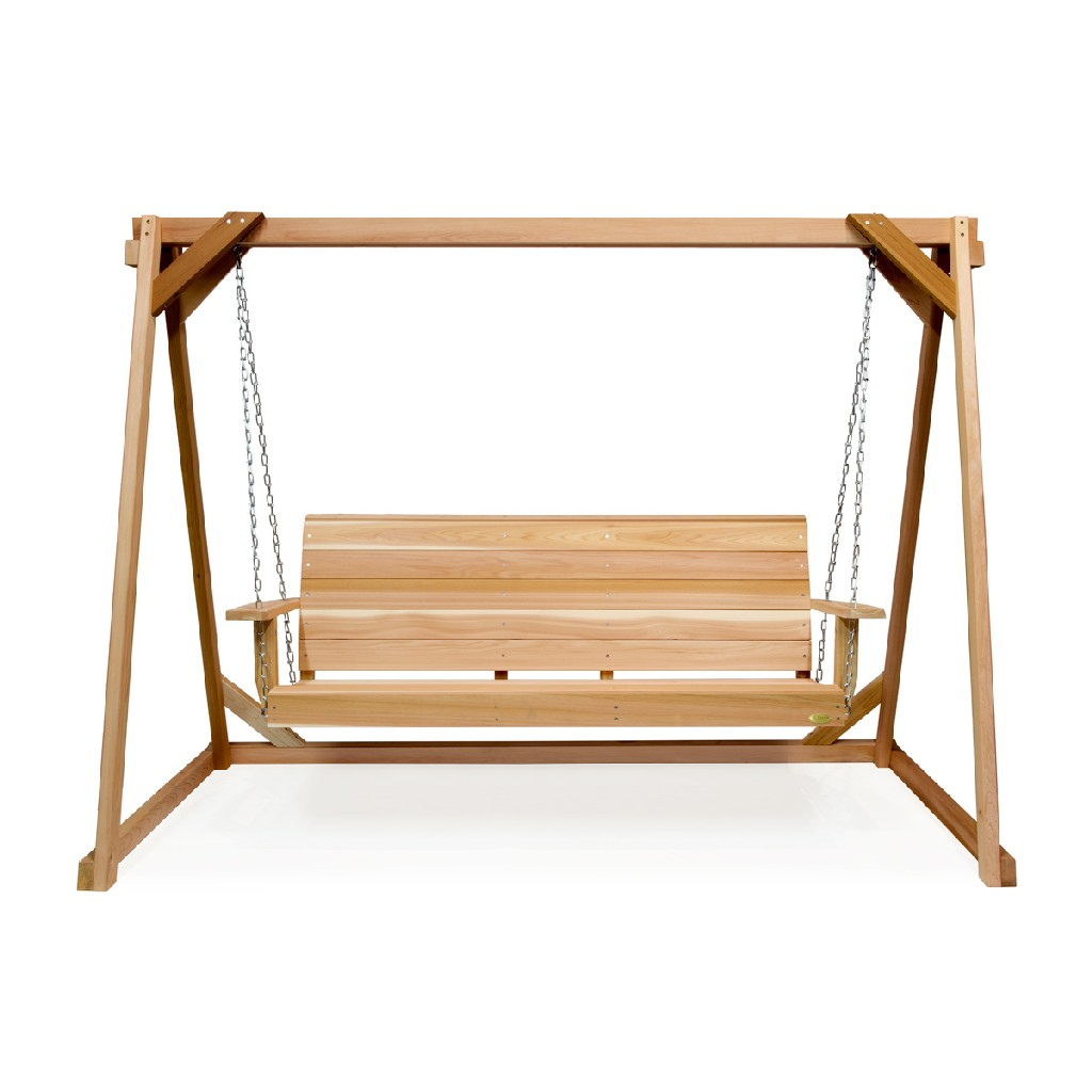 8-ft Swing A-Frame & 5-ft Porch Swing Set - All Things Cedar AF90-S