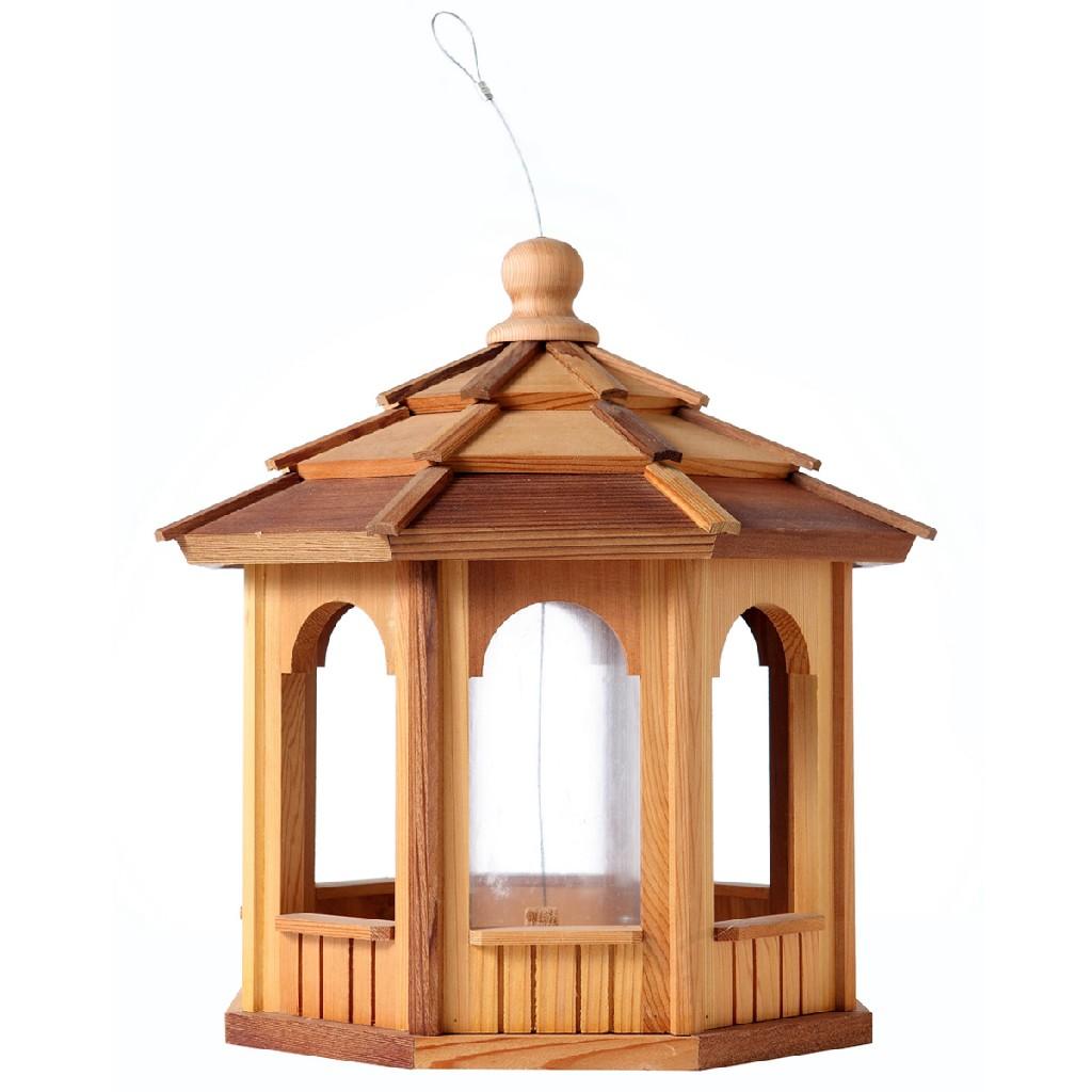 8 Sided Octagon Cedar Birdfeeder - All Things Cedar BF18