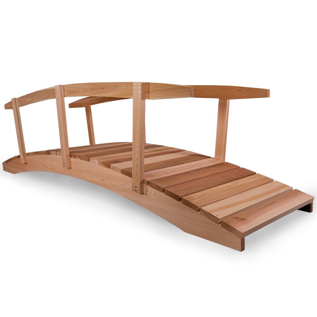 12-ft Garden Bridge with Side Rails - All Things Cedar FB144-R