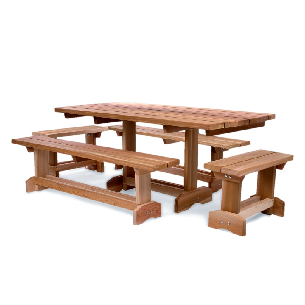 5-Piece 6-ft Market Table Set - All Things Cedar MT70-5